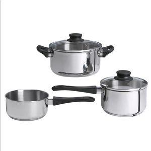 IKEA 5 piece cookware set